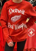Detroit Red Wings Womens Julie Comfy Cord Crew Sweatshirt - Red