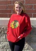 Chicago Blackhawks Womens Cozy Cord Crew Sweatshirt - Red