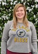 St Louis Blues Womens Knobi Crew Sweatshirt - Grey