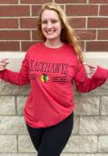 Chicago Blackhawks Womens Melange T-Shirt - Red