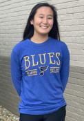 St Louis Blues Womens Melange T-Shirt - Blue