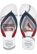 St Louis Cardinals Havaianas Flip Flops - White