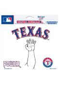 Texas Rangers 4.5x6 Power Auto Decal - White